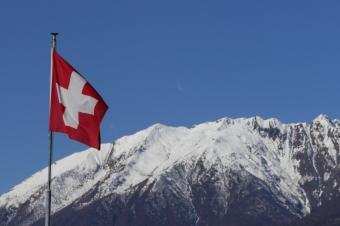 Berg und Fahne