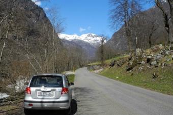 Val Bavona mit Auto